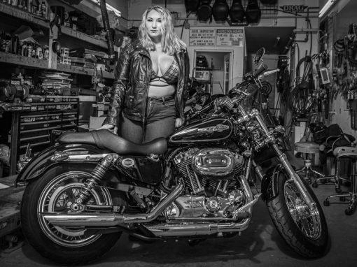 Miss April Ann Motorcycle Boudoir Photo Shoot
