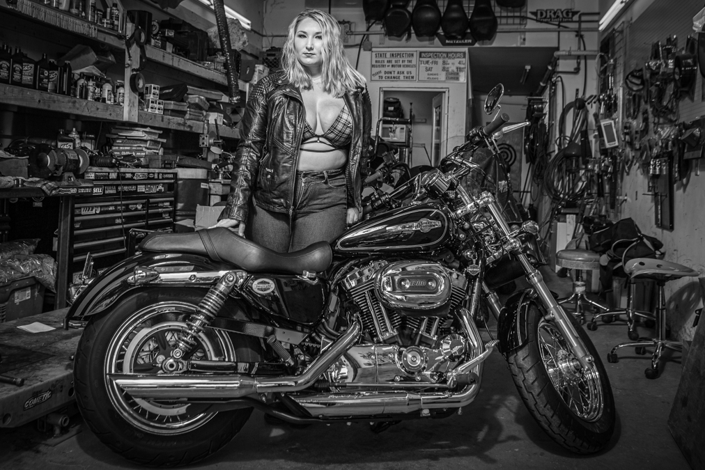 Miss April Ann Motorcycle Boudoir Photo Shoot
